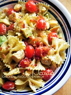 Chicken Avocado Ranch Pasta #FavRanchFlav @HiddenValley #sponsored