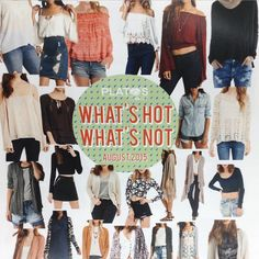 Trend alert!!! Do you have these styles kicking around....cardigans, peasant, tunic, plaid, boho-lace, denim, crop and military....we will pay you cold hard cash. Go through your closets and earn extra cash for back to school shopping! #trends #style #platosclosetkitchener #cashonthespot #whatsinyourcloset | www.platosclosetkitchener.com