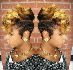 Two tone blonde sassy hairstyle