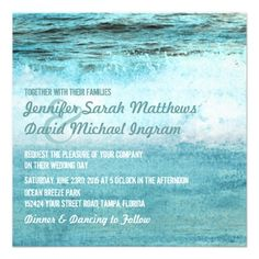 This DealsBlue Ocean Waves Beach Wedding InvitationsWe have the best promotion for you and if you are interested in the related item or need more information reviews from the x customer who are own of them before please follow the link to see fully reviews