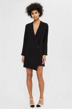 Shop the latest need-to-have dresses at Topshop. From party dresses, to maxis and midis, find your new season style. Order now for free collection at Topshop. Lace Blazer, Blazer Dress, Jacket Dress, Dress Jackets, Topshop Outfit, Topshop Clothing, White Shift Dresses, Perfect Little Black Dress, Tuxedo Dress