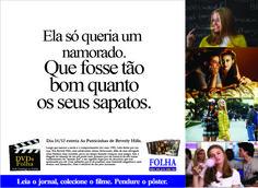 Anúncio Folha de São Paulo, filme Patricinhas de Beverly Hills.