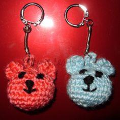 Handmade crochet teddy bear keyring/ bagcharm by YammasCrafts, Crochet Teddy, Crochet Animals, Crochet Earrings, Teddy Bear, Diy Crafts, Dolls, Trending Outfits, Unique Jewelry, Handmade Gifts