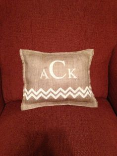 Burlap Pillow by CreativePlaces on Etsy, $20.00