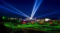 Bereits zum 8. Mal fand im sächsischen Boxberg die Transnaturale, ein magisches Licht-Klang-Festival, statt.  Credit: dpa