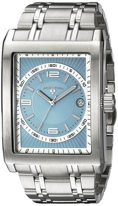 Swiss Legend Men's 40012-102 Limousine Light Blue Textured Dial Stainless Steel Watch * Be sure to check out this awesome watch.