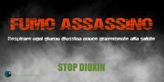 Respirare ogni giorno diossina nuoce gravemente alla salute (STOP DIOXIN).