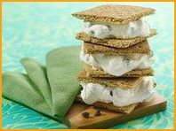 S'mores sandwich! 133 calories per serving and extremely delicious. My granny used to make these.