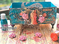 Hello crafty friends , sonika here I am back with my new project that is altered box with our versatile chalk paint. Altered Boxes, Altered Art, Photo Tutorial, Metallic Paint, Alters, Hello Everyone, Mixed Media Art, Chalk Paint, Craft Supplies