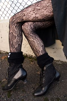 Socks by Sock Dreams » .Socks Special Collections » Floral » Baroque Lace Pantyhose