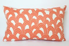 Orange Arches Outdoor Pillow Cover with Trina Turk Fabric on Both Side – The Pillow Studio