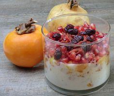 Ma petite cuisine gourmande sans gluten ni lactose: Verrines aux kaki, mangue, grenade, cranberries et baies de goji
