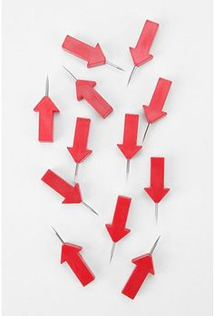 @Shelby Hewitt! Arrow Pushpins for your map!