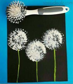 Bloemen bespatten
