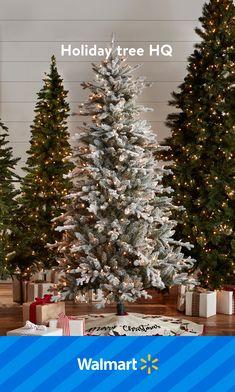 Walmart Christmas Trees, Christmas Room, Christmas Lights, Christmas Door Decorations, Christmas Wreaths, Christmas Crafts, Holiday Tree, Holiday Decor, Christmas Tree Inspiration
