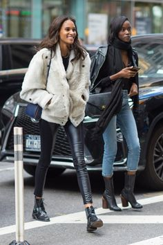 Cindy Bruna and Riley Montana at the NYC Victoria's Secret offices for the VS Fashion Show casting callback (October 25, 2016) #VSFS #VSFS_2016 #VSFSParis2016