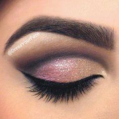 Eye Makeup Tips.Smokey Eye Makeup Tips - For a Catchy and Impressive Look Kiss Makeup, Cute Makeup, Pretty Makeup, Hair Makeup, Perfect Makeup, Makeup Hairstyle, Hairstyle Ideas, Gorgeous Makeup, Fancy Makeup
