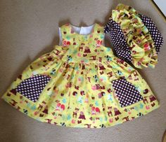 Colourful pretty dress with matching frilly pants by LilyrhodesUK