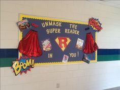 Superhero Library Bulletin Board
