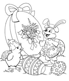 Pasen Spring Coloring Pages, Easter Coloring Pages, Coloring Book Pages, Printable Coloring Pages, Coloring Pages For Kids, Easter Coloring Pictures, Easter Pictures, Easter Projects, Easter Crafts