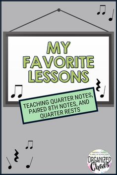 Today, I'm talking about my favorite way to introduce quarter notes, paired eighth notes, and quarter rests. I introduce all 3 at once to my kindergarteners in the spring. Of course since this is their first time really working with standard notation and working with rhythms in a conscious way, I have a million different lessons to practice these rhythms in my elementary music class. Music Room Organization, Elementary Choir, Classroom Management Tips, Fifth Grade, Teacher Resources, Kindergarten, Notes, Teaching, How To Plan