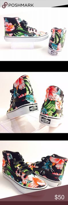 pretty nice 345aa ae919 New Hawaiian Floral Vans New Authentic Floral high top slim vans NO LOW  BALL OFFERS PLEASE