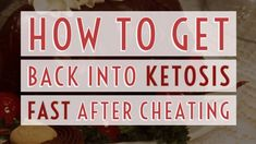How to get back into Ketosis after cheating Ketogenic Recipes, Ketogenic Diet, Keto Recipes, Keto Diet Plan, Low Carb Diet, Keto Fast, Keto Shopping List, Get Healthy, Healthy Eating