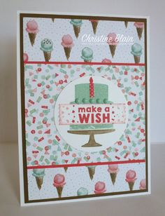HAPPY HEART CARDS: STAMPIN' UP! PARTY WISHES BIRTHDAY CARD