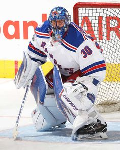 TORONTO, ON - JANUARY 19: Henrik Lundqvist #30 of the New York Rangers faces a shot during the warm-up prior to play against the Toronto Maple Leafs in an NHL game at the Air Canada Centre on January 19, 2017 in Toronto, Ontario, Canada. (Photo by Claus Andersen/Getty Images)
