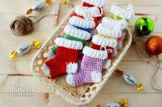 crochet-pattern-crochet-christmas-stocking-ornaments by lynn