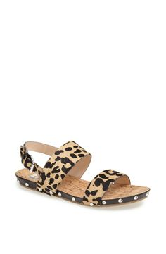 86a9afdbebe2d8 How fun are these leopard print Dolce Vita Sandals! Cute Sandals
