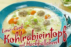 Low-Carb Kohlrabieintopf mit Hackbällchen - Der Eintopf für ein wohlig sattes Bauchgefühl. Lecker als Mittagsgericht und schmeckt auch am Abend.