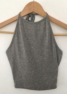 grey rib halter crop top – euphoria fashion shop