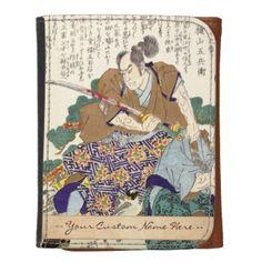 Classic Vintage Japanese Samurai Warrior General Wallet #Classic #Vintage #Japanese #Samurai #Warrior #Ronin #oriental #customizable #gifts and #accessories #Japan #kenshi #bushi #katana