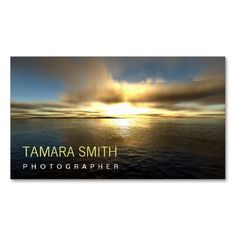 Beautiful Sunset Photographer Pack Of Standard Business Cards