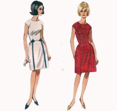 Vintage 60s Sewing Pattern Sleeveless Dress with by HoneymoonBus, $9.99