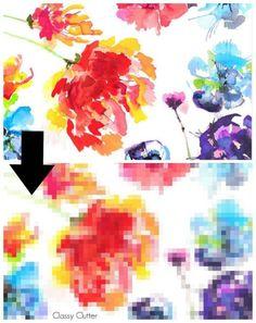 DIY Pixelated Painterly Wall Art