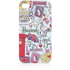 Harrods Graffiti iPhone 4/4S Case ❤ liked on Polyvore