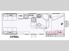 Used 2014 Pacific Coachworks Sandsport 23FBSL Toy Hauler Travel Trailer at General RV | Draper, UT | #136617