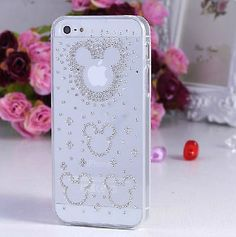 Mickey Mouse Crystal Clear Transparent Bling Hard Case Cover for Iphone 5s /5