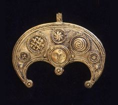Ancient women's jewelry, amulets in the shape of the moon ~ lunitsa or lunula.