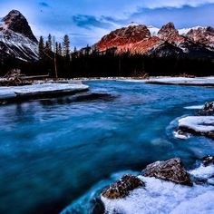 Bowe River, Canmore, Alberta, CANADÁ