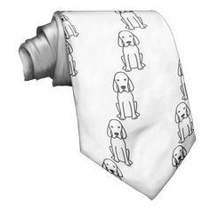 Redbone Coonhound Dog Cartoon Custom Ties