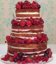 This beautiful naked celebration cake created by Juliet Sear is perfect for a wedding or any celebration where you want a show-stopping centre piece! Find the recipe here at BakingMad.com!