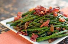 Adobo Long Green Beans and Bacon