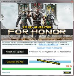 For Honor CD Key Generator 2016 Full Game 2016