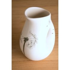 Medium sized jug with dandelion design or king protea with sunbird White matt ceramics with charcoal print Size: 150 mm wide (widest point) x 200 mm high Oven proof but will shorten life span if placed in dishwasher WHEN PLACING AN ORDER PLEASE L Dandelion Designs, Cabo, Bloom, Decor Ideas, Fire, Beauty, Beauty Illustration
