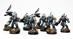 40k - Tau Empire Sa'Cea Stealth Suit Kill Team by ThirdEyeNuke