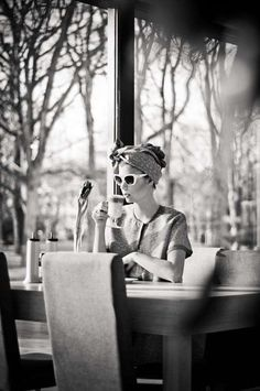 Aleksandra Zaborowska recently shot a coffee shop-inspired editorial - pétasse de terrasse