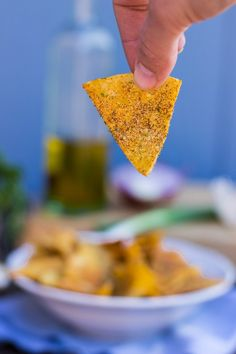 Homemade Cool Ranch Doritos {vegan, gluten free} #PocketYourDollars www.PocketYourDollars.com